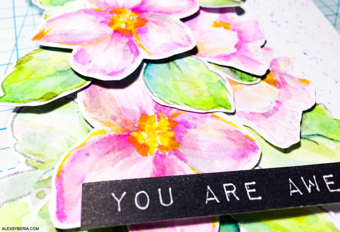 Dimensional floral card | Altenew