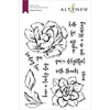 Inked Flora, Altenew Clear Stamp Set