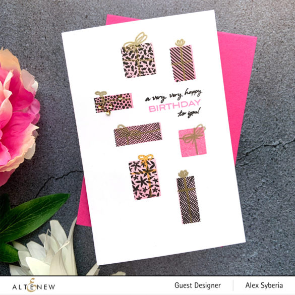 altenew-piles-of-presents-alexsyberia-birthday-card