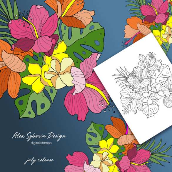 tropical-bouquet-alexsyberia-design