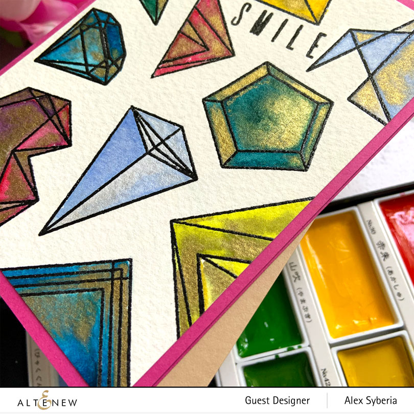 altenew-geometric-elements-alex-syberia-close-gansai-tambi-watercoloring-cardmaking